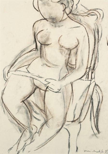 Henri Matisse-Nu Assis-1935