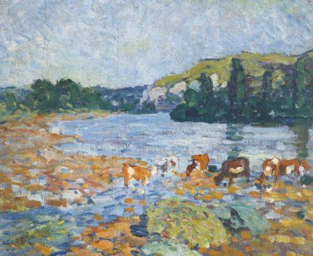 Louis Valtat-Paysage Avec Riviere-