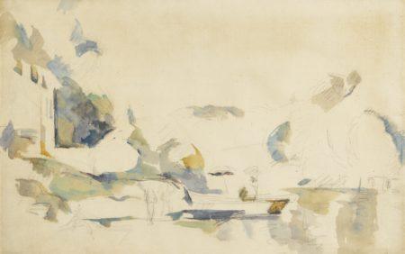 Paul Cezanne-La Barque, Le Lac D'Annecy-1896