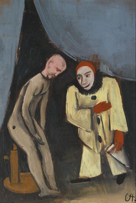 Karl Hofer-Clown Und Puppe (Clown And Doll)-1924