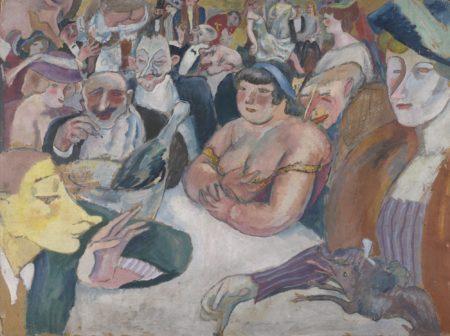 Jules Pascin-Les Noctambules - Recto Femme Au Chien - Verso-1909