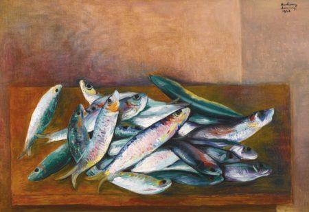 Moise Kisling-Nature Morte Aux Sardines-1943