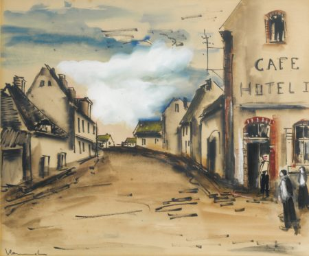 Maurice de Vlaminck-Rue De Village-1930