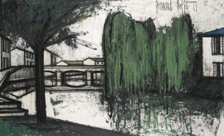 Bernard Buffet-Saules Pleureurs Sur La Riviere-1961