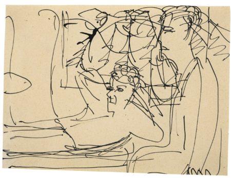 Ernst Ludwig Kirchner-Schnellzug: Zwei Personen Im Gesprach (Express Train: Two Men In Conversation)-1925