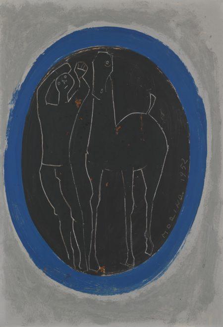 Marino Marini-Cavallo E Cavaliere In Un Ovale (Horse And Rider In An Oval)-1952