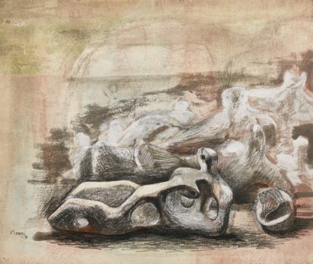 Henry Moore-Landscape With Figures-1938