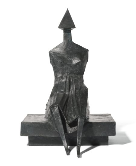 Lynn Chadwick-Sitting Woman II-1989