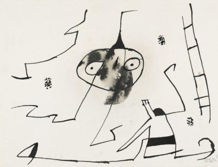 Joan Miro-Homme, Femme Et Oiseau Devant L'Echelle De L'Evasion-1977