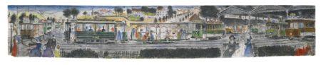 Paul Delvaux-Projet Pour Le Metro De Bruxelles-1978
