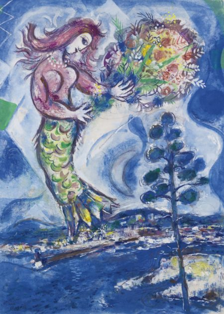 Marc Chagall-Sirene Au Pin-1960
