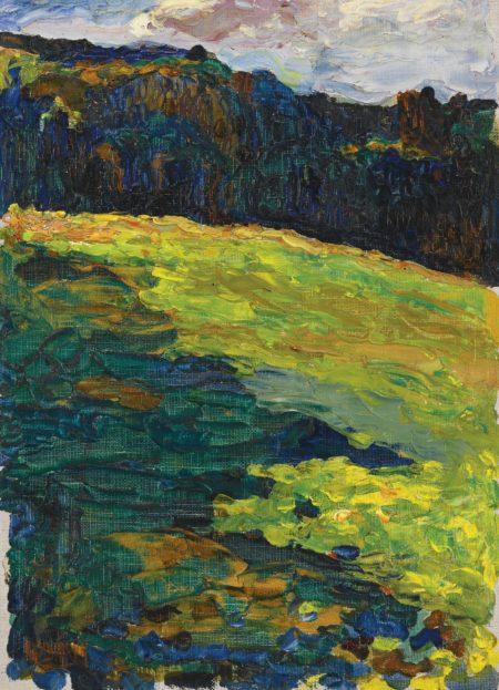 Wassily Kandinsky-Kochel - Bergwiese Vor Waldrand (Kochel - Mountain Meadow At The Edge Of The Forest)-1902