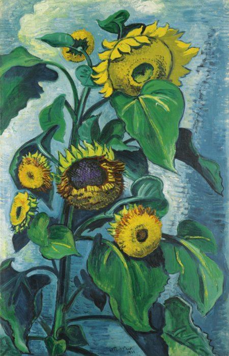 Max Pechstein-Sonnenblumen (Sunflowers)-1931