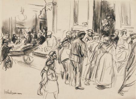 Max Liebermann-Strassenszene (Street Scene)-