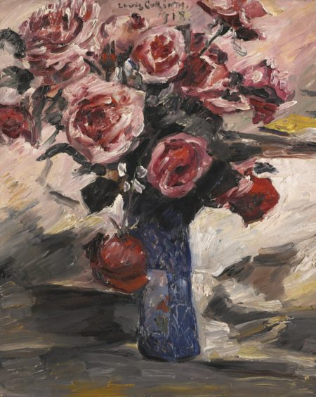 Lovis Corinth-Rosen (Roses)-1918