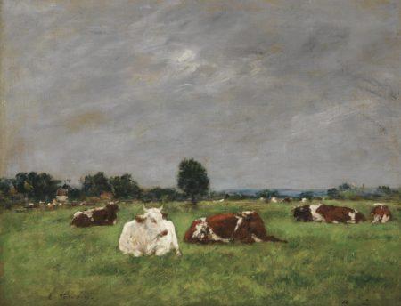 Eugene Louis Boudin-Une Prairie Le Matin-1985