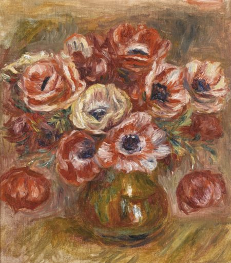 Pierre-Auguste Renoir-Anemones Dans Un Vase-1915