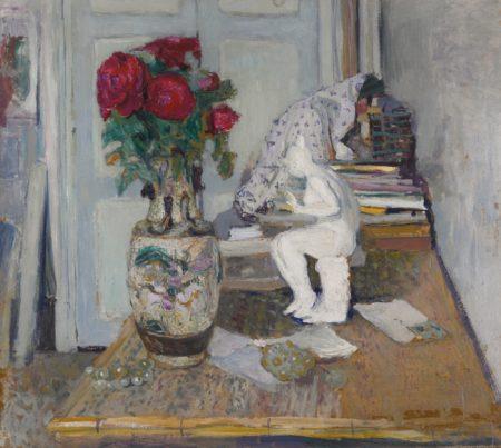 Edouard Vuillard-Statuette De Mailliol Et Roses Rouges II-1901