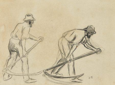Camille Pissarro-Les Moissonneurs-1980