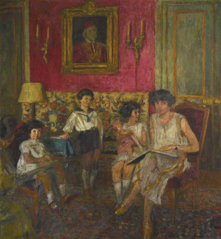 Edouard Vuillard-Madame Jean Bloch Et Ses Enfants, Premiere Version-1929