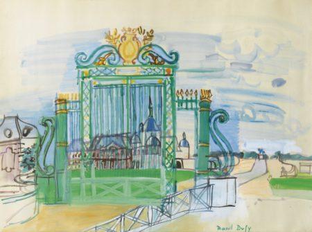 Raoul Dufy-Chantilly, La Grille Du Chateau-1935