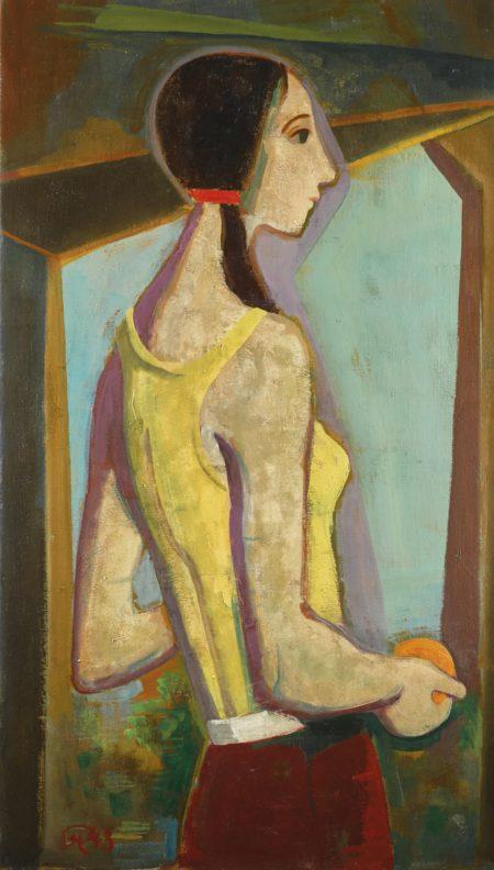 Karl Hofer-Madchen Mit Orange (Girl With Orange)-1948