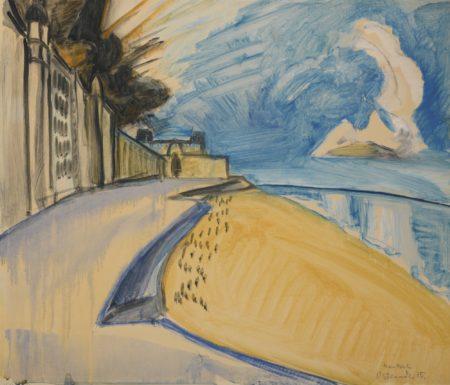 Erich Heckel-Strand In Ostende (Beach In Ostend)-1915