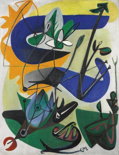 Georg Meistermann-Studium Des Blattes (Study Of A Leaf)-1951