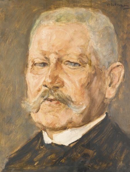 Max Liebermann-Bildnis Paul Von Hindenburg - Studie (Portrait Of Paul Von Hindenburg - Study)-1927