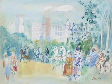 Jean Dufy-Promenade Au Bois De Boulogne-1950