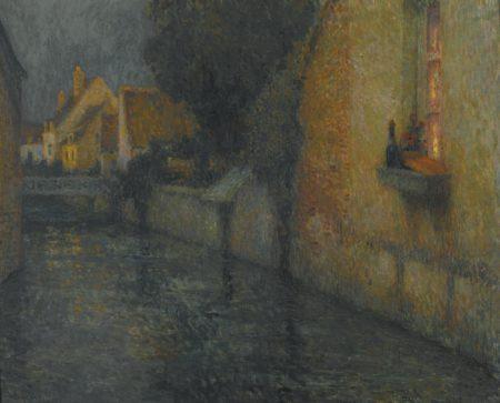 Henri Eugene Le Sidaner-La Fenetre, Gisors-1912