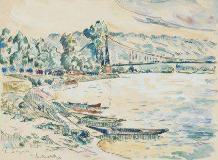 Paul Signac-Les Andelys, Le Pont-1922