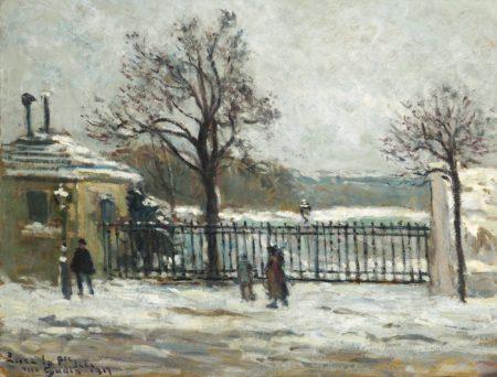 Maximilien Luce-Rue Gudin, Vue D'Hiver Sur Le Jardin-1917