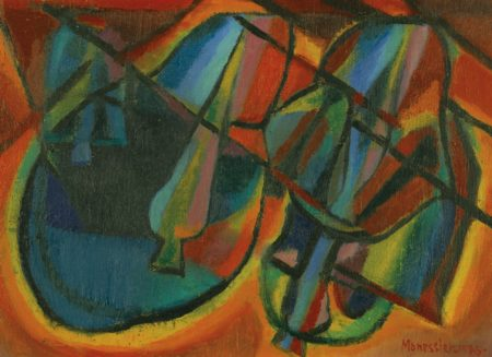 Alfred Manessier-Cloches Le Soir-1945