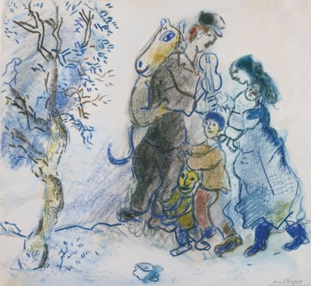 Marc Chagall-Famille De Paysans Or Famille De Musiciens-1943