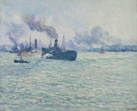 Maximilien Luce-Rotterdam, Scene De Port-1907