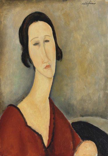 Amedeo Modigliani-Madame Hanka Zborowska-1917