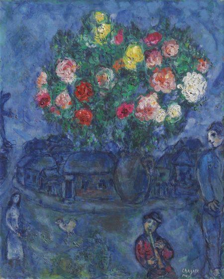 Marc Chagall-Le petit flutiste-1967