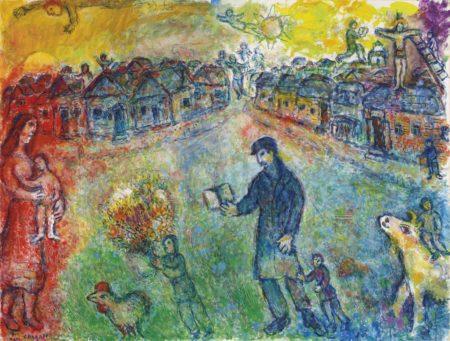 Marc Chagall-Le voyageur-1980