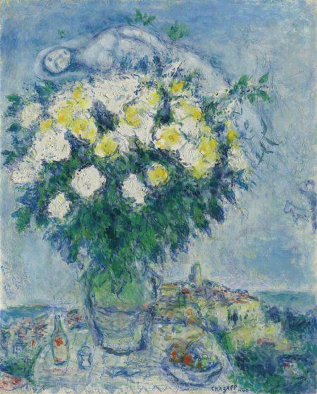 Marc Chagall-Le nu au bouquet-1981