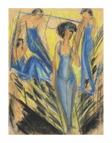 Ernst Ludwig Kirchner-Blaue Artisten-1914