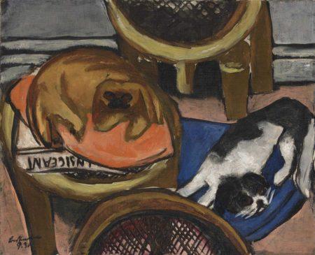 Max Beckmann-Hunde-1930