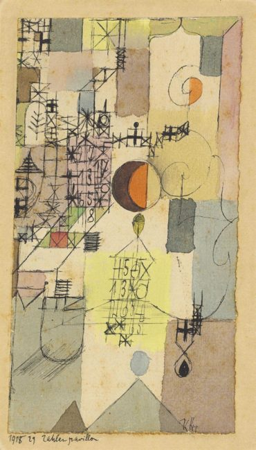 Paul Klee-Zahlenpavillon (Pavilion of Numbers)-1918