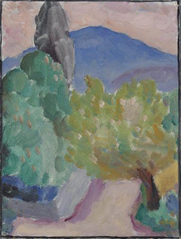 Alexej von Jawlensky-Blauer Berg, St Prex-1914