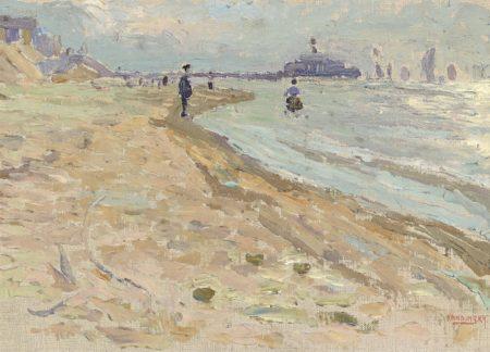 Wassily Kandinsky-Scheveningen - Strand-1904