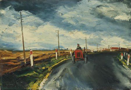 Maurice de Vlaminck-Le tracteur rouge-1956