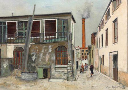 Maurice Utrillo-Paris, ruelle des Gobelins-1921