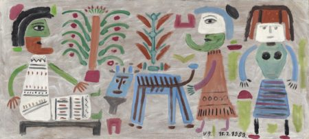 Victor Brauner-Tapis vert-1953