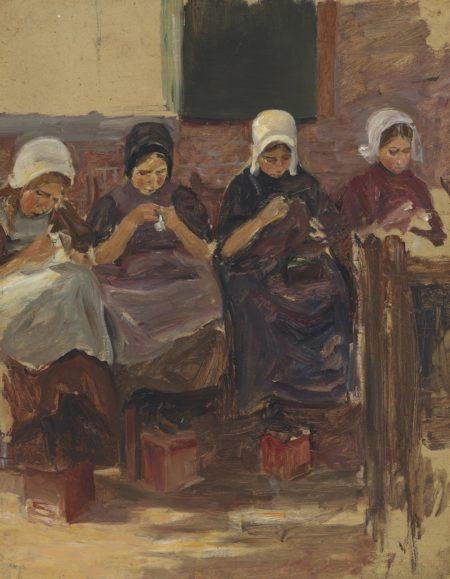 Max Liebermann-Nahende Madchen in Huyzen-1898