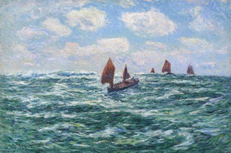Henry Moret-Bateaux de peche, Audierne-1906